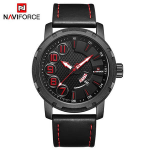 NAVIFORCE Luxury Brand Men's Quartz Watches Men Fashion Waterproof Leather Sport Military Watch Man Date Clock Relogio Masculino