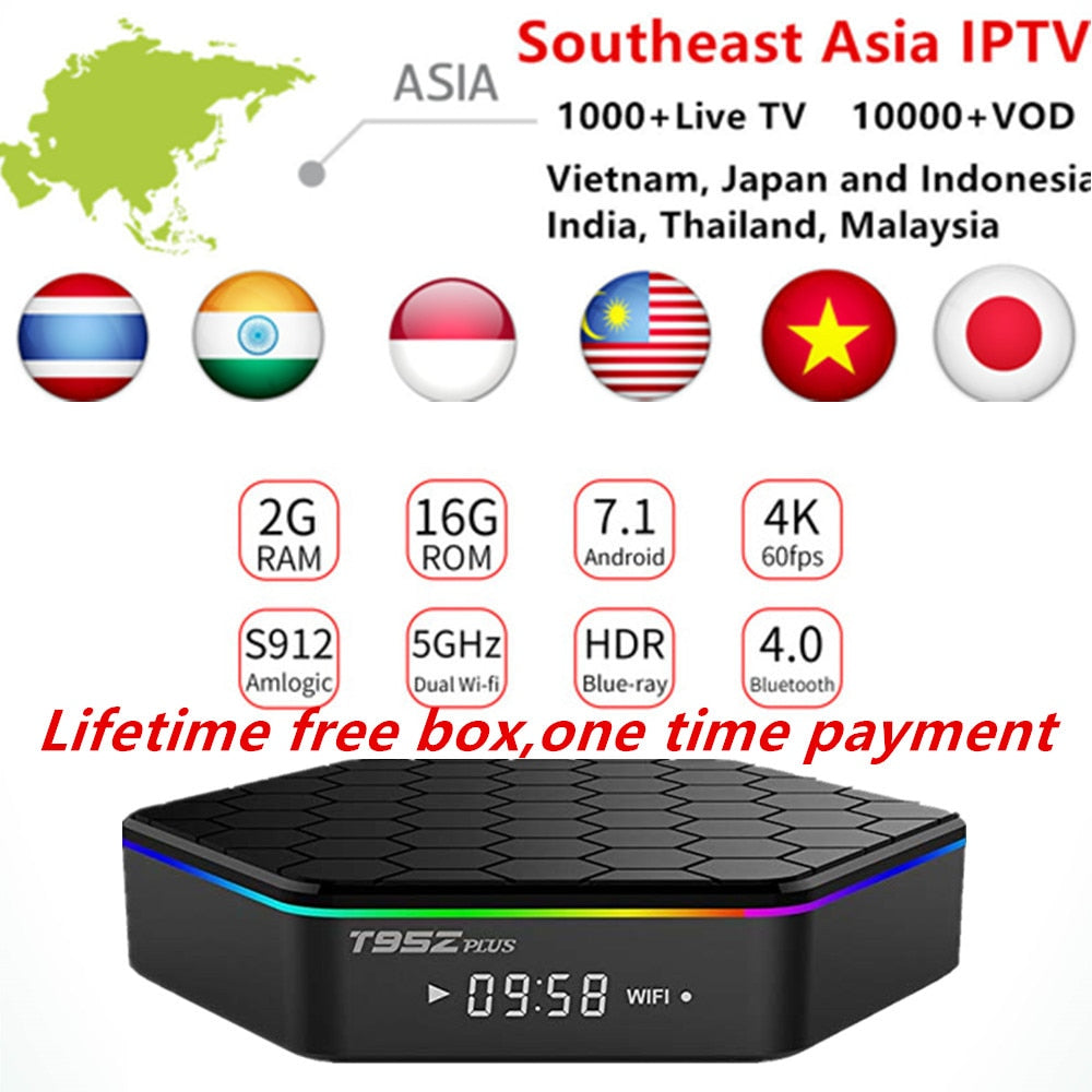No Monthly Fee Arabic IPTV BOX Subscription 1000+France Italian Malaysia Europe Nordic HD Channels Android IPTV Smart TV box