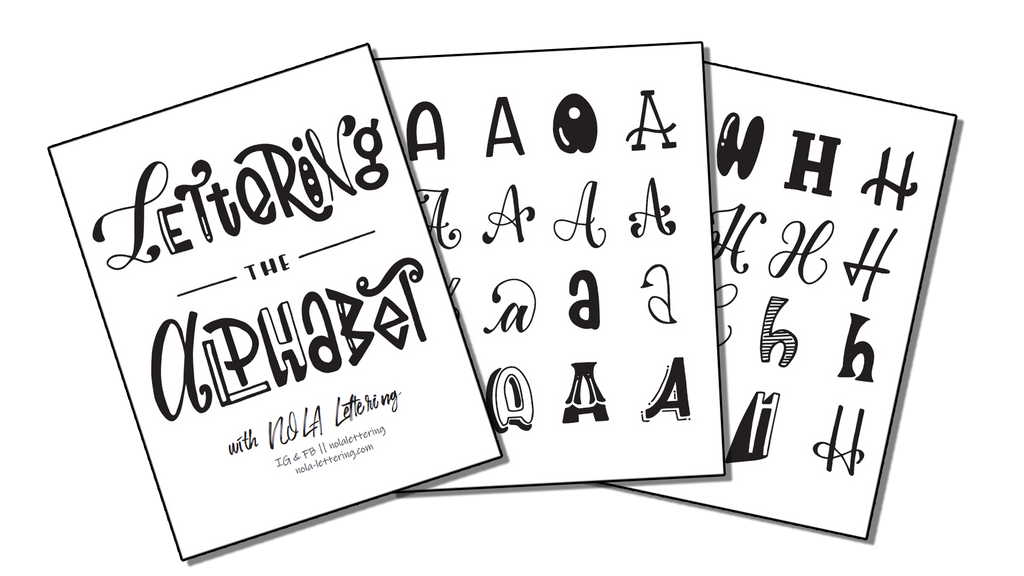 Freebie Lettering the Alphabet Worksheets!