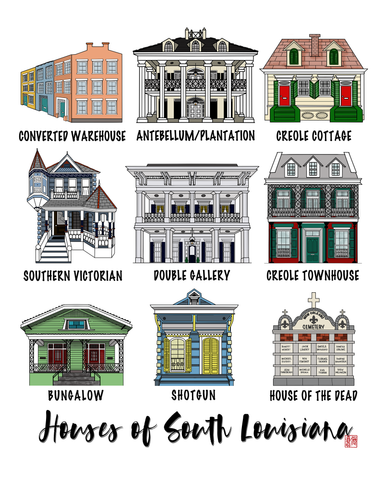 Houses of Southern Louisiana Prints