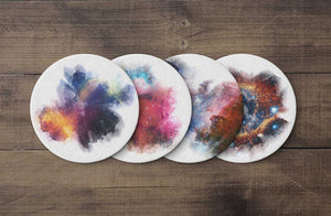 Coasters Space Inkblot Coaster Set Print Cosmic
