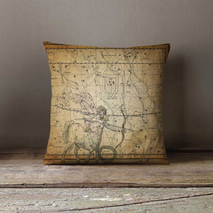 Antique Star Map Pillowcase Decorative Throw