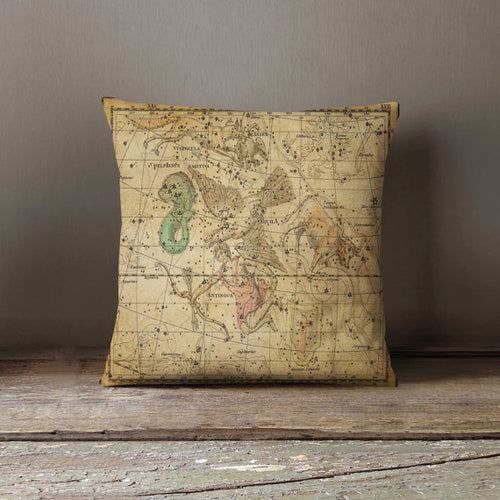 Star Map Antique Pillowcase Decorative Throw