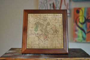 Antique Map of Stars Ceramic Tile Coaster Set