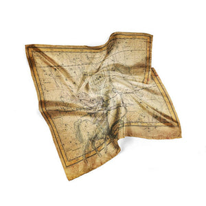 Antique Star Map Silk Space Silk Square Scarf Gift