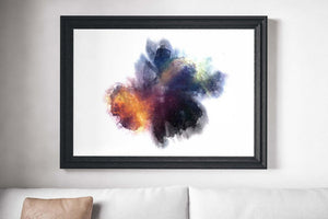 Space Ink Blot Painting Print Canvas
