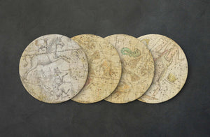 Antique Star Map Cork Coasters Set