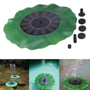 Outdoor Solar Power Fountain Water Pump Floating Panel