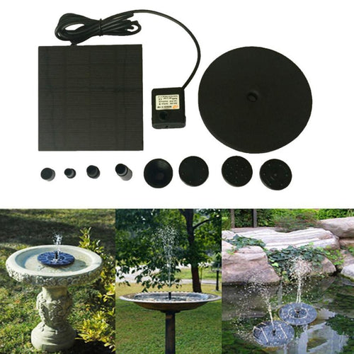 Outdoor Floating Solar Powered Pond Garden Water Pump Fountain Kit