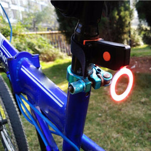 Round USB Bicycle LED Cycling MTB Safety Warning Tail Light