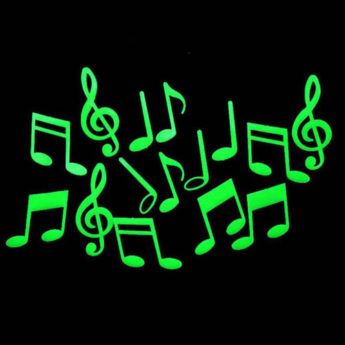 Glow In The Dark Fluorescent Musical Notes