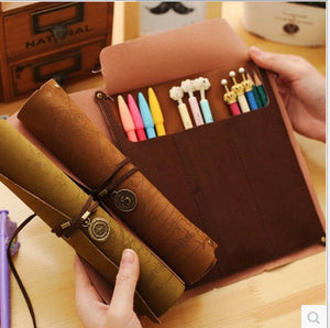 Rollup Leather Pencil Case