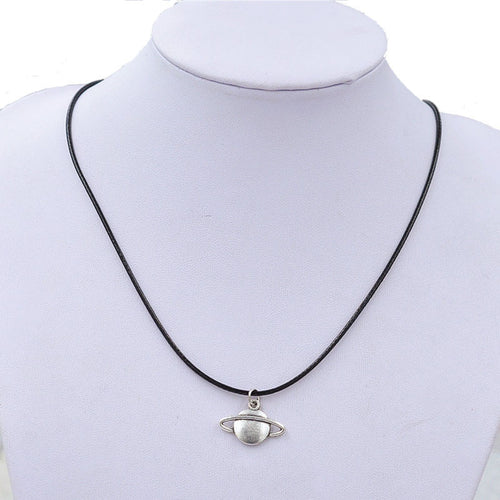 Retro Saturn Pendant with Necklace
