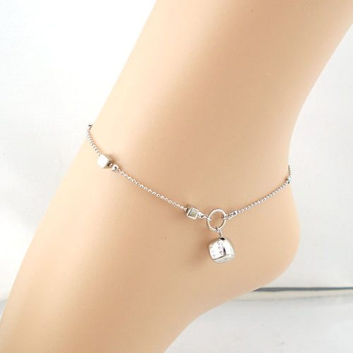 Silver Dice Anklet