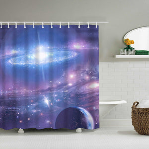 Exploding Star Fabric Shower Curtain
