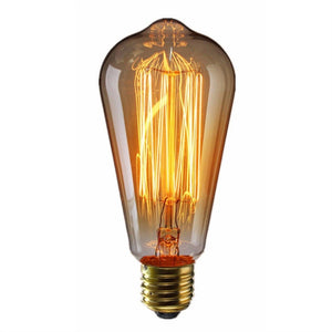 3pcs 60W Tungsten Filament Edison Bulbs