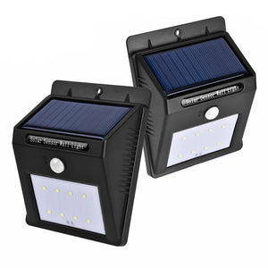 Rechargeable Solar LED Wall Lamp Motion Sensor Detector
