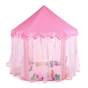 Pink Princess Castle Kids Play Tent