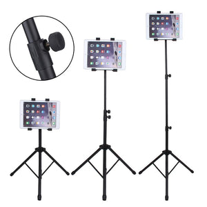 Portable iPad/Tablet Tripod with Universal 360° Rotatable Mount and Height Adjustment