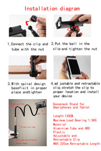 360 Degree Flexible Gooseneck Phone Holder with Clip