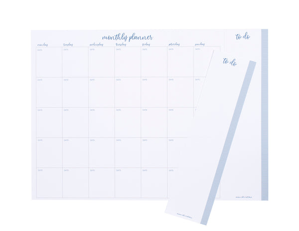 Monthly planner, to-do list