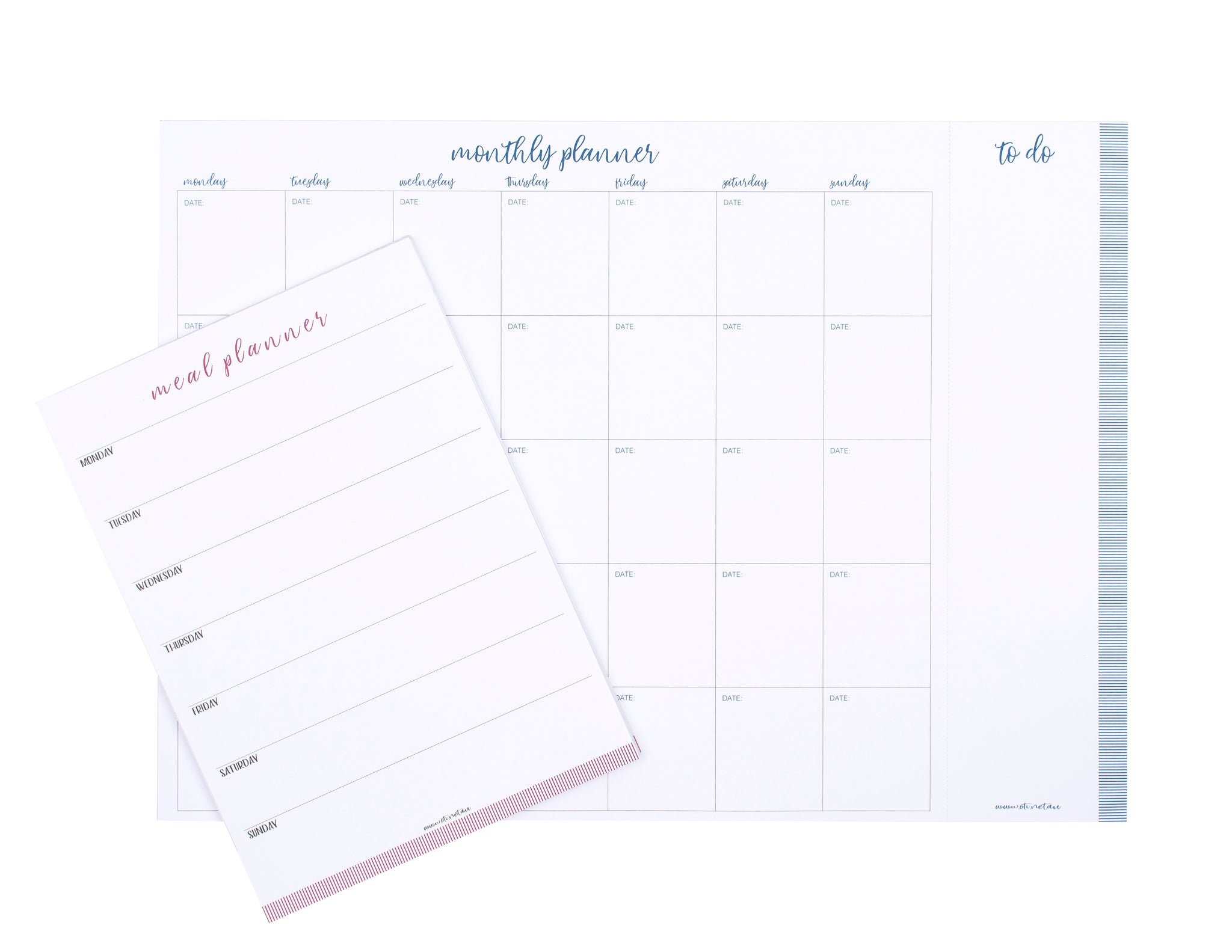Monthly planner & meal planner together