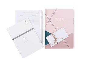 2018 OTi Organiser Geometric + Shopping List Pad + Notes Booklets + Sticky Notes
