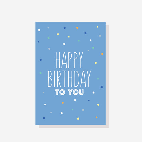 Blue Birthday Card - by Sprout and Sparrow
