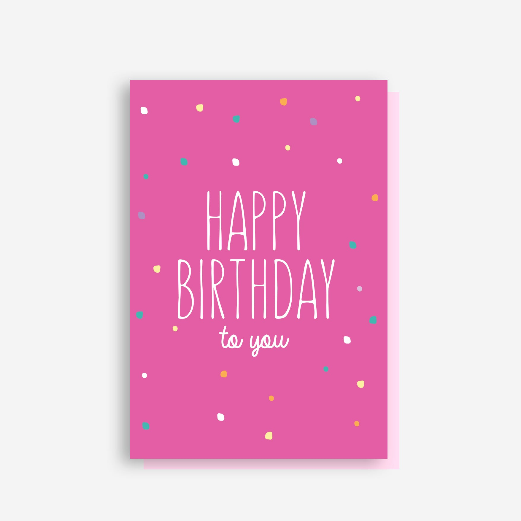 Pink Birthday Card - by Sprout and Sparrow
