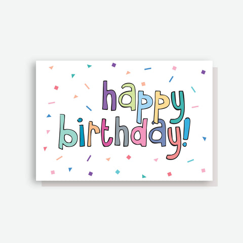 Confetti Birthday Card - by Sprout and Sparrow