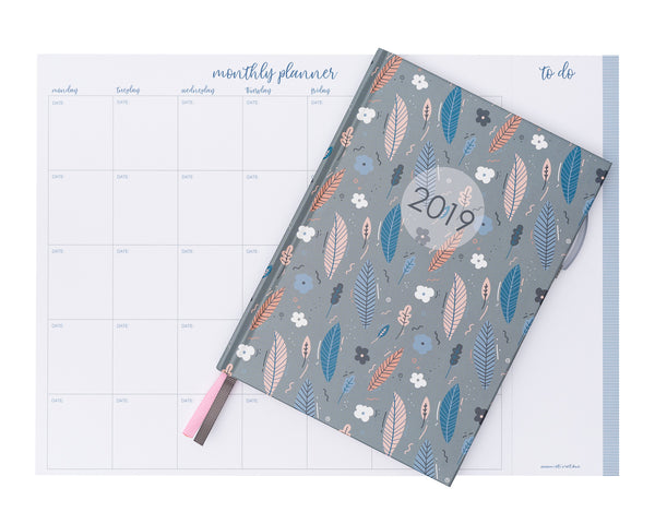 2019 OTi Organiser Leaves + Monthly Planner