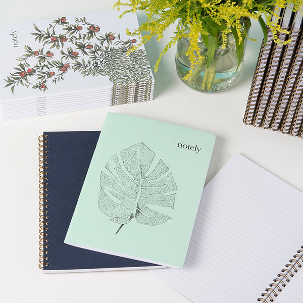 Perfectly Picked & Minty Leaf A5 Notebooks (set of 2) - by Notely