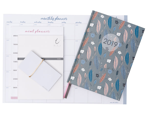 2019 OTi Organiser Leaves Planner Pack