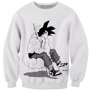 Goku Chillin Sweater - AnimeSamaStore