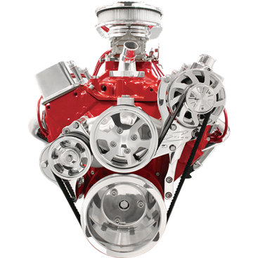 Billet Specialties Small Block Chevy SBC Tru Trac Serpentine Kit