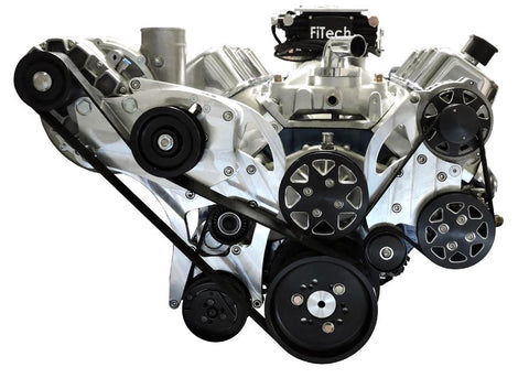 All American Billet Big Block Chevy Supercharged Serpentine Kit