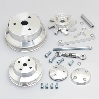 SBC Mid Mount Brackets And Pulleys Kit - Billet Kings