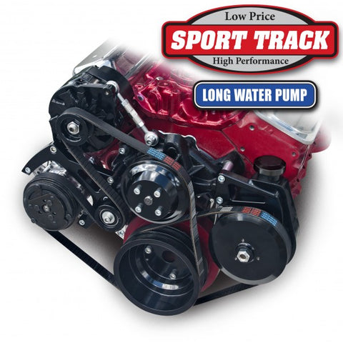 March Performance Chevy Small Block Sport Track Long Water Pump Serpentine Kit