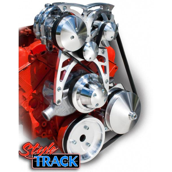 March Performance Chevy Small Block Street Rod Style Track Serpentine Kit