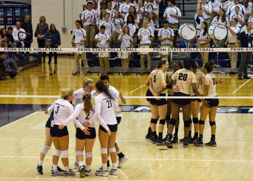 college athletes volleyball