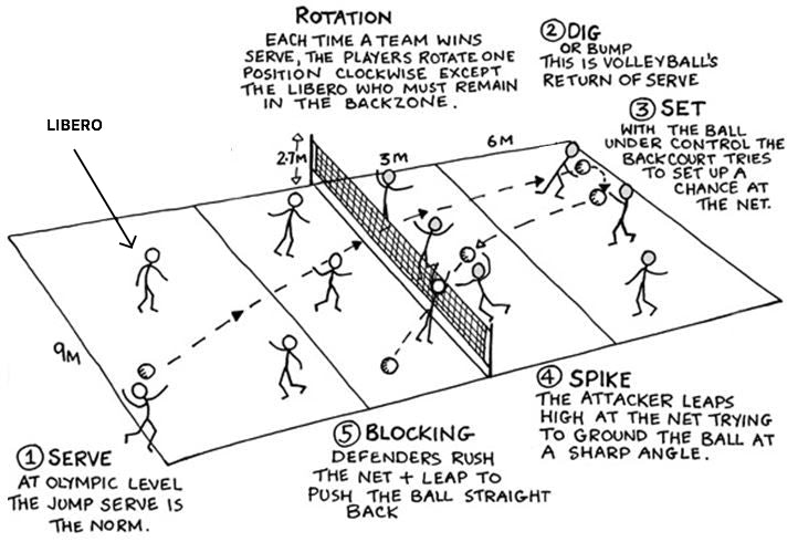 Liberos must possess the ability and skills to play in any position, as they may be put into any position at any given time during a game.