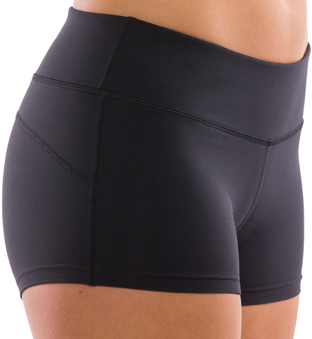 Black Spandex Volleyball Shorts