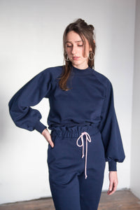 RUFFLE Sweatpants - Navy