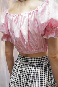 PEASANT Blouse in Candy Stripe