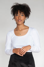 ALICE Tee - Ivory Pointelle Thermal