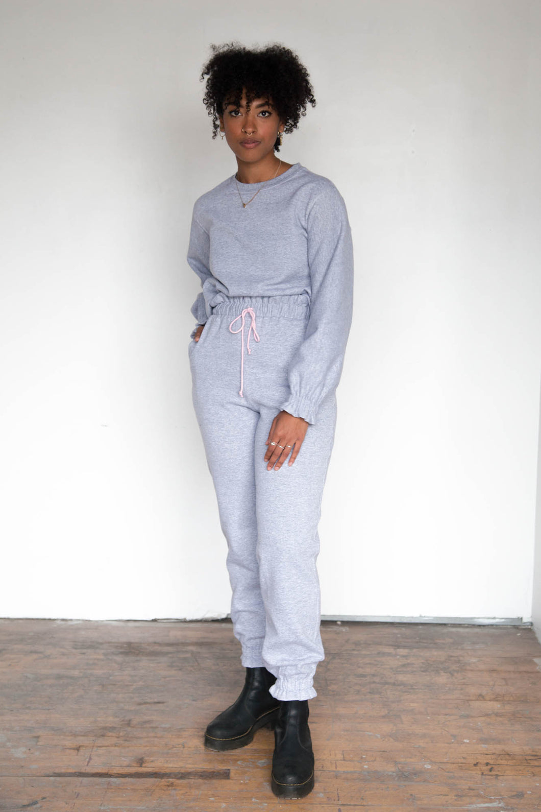 RUFFLE Sweatpants - Heather