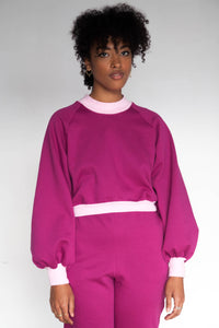 SIGRID Mockneck Sweater - Raspberry
