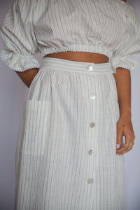 LA CAMPAGNE Skirt in Pinstripe