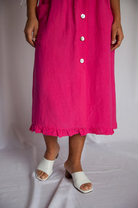 LA CAMPAGNE Skirt in Cerise