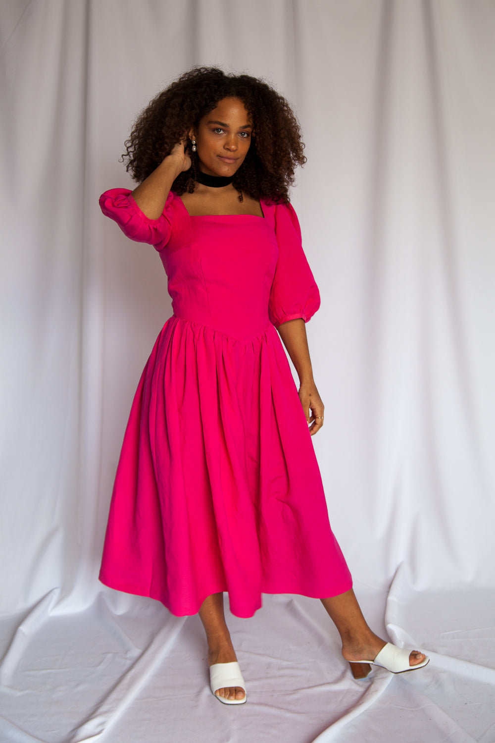 MAGNOLIA Dress in Cerise